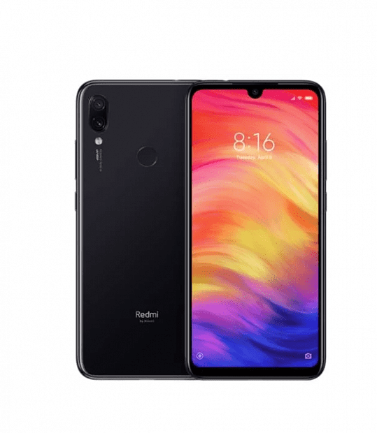 Смартфон Xiaomi Redmi Note 7 64GB/4GB (Black/Черный)