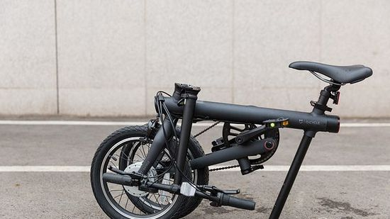Электровелосипед Xiaomi Mijia QiCycle Folding Electric Bike в складном виде